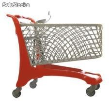 Chariot EXPRESS Coloris structure:Rouge RAL3020 Coloris panier:Gris RAL7023