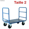 Chariot tubulaire 2 dossiers 1200 x 700 mm