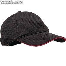 Chef Works Cool Vent Baseball Cap Berry Trim One Size