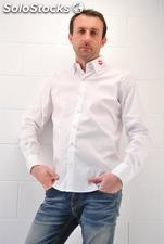chemise homme 7Camicie Kiss Blanco