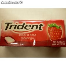 Chicles trident fruit fresa grageas
