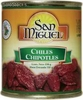 Chiles chipotles 24/198 gr