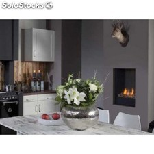 Chimenea a gas Fyn 450 steel
