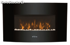 chimenea electrica purline frontal negro 905x135x560mm