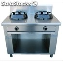 Chinese gas cooker, 2 burners - mod. cc/02 - exclusively custom made - open