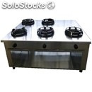 Chinese gas cooker, 5 burners, control panel on both sides - mod. cc/05 cs -