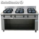 Chinese gas cooker, 6 burners - mod. cc/06 - exclusively custom made - open