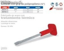Cincel con grip de polipropileno 12