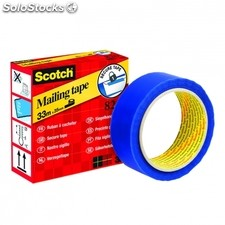 Cinta adhesiva de seguridad color azul 35 mm x 33 m scotch