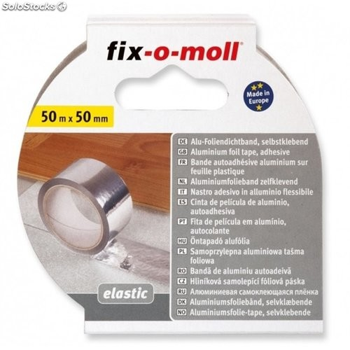 Cinta Adhesiva Flexible Hasta 90C Fix-O-Moll 50Mx50Mm