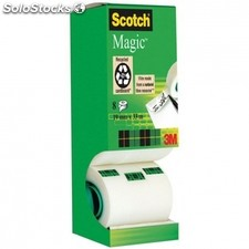 Cinta adhesiva invisible scotch magic - pack ahorro con 8 rollos -3M