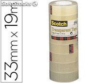 Cinta adhesiva scotch acordeon pack 8 550 19X33 mm