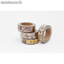 Cinta adhesiva washi tape 15 mm x 10 metros DS-133