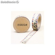 Cinta adhesiva washi tape 15 mm x 10 metros DS-134 DS-134