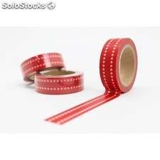 Cinta adhesiva washi tape 15 mm x 10 metros DS-140