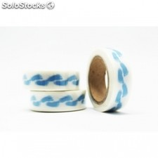 Cinta adhesiva washi tape 15mm x 10 metros ds-111