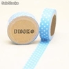 Cinta adhesiva Washi Tape 15mm x 10 metros DS-117