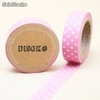 Cinta adhesiva Washi Tape 15mm x 10 metros DS-118