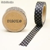 Cinta adhesiva Washi Tape 15mm x 10 metros DS-119