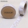 Cinta adhesiva Washi Tape 15mm x 10 metros DS-131