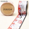 Cinta adhesiva Washi Tape 30mm x 10 metros DS-100