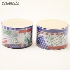 Cinta adhesiva Washi Tape 30mm x 10 metros DS-101