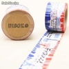 Cinta adhesiva Washi Tape 30mm x 10 metros DS-102