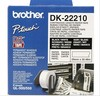 Cinta continua blanca 29MM brother papel