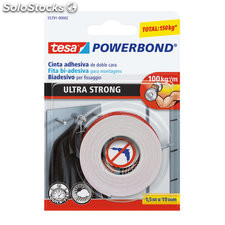 Cinta doble cara 19MM x 1.5M powerbond ultrastrong