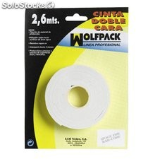 Cinta Doble Cara Wolfpack 2,6m x 18mm