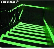 Cinta fotoluminiscente brilla en la oscuridad (glow in the dark tape) 2cm*15m