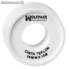 Cinta ptfe wolfpack 19 mm x 15 m