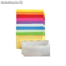 ✅ clairefontaine sobres paquete 20 ud 110X220 plateado 120 g 130856