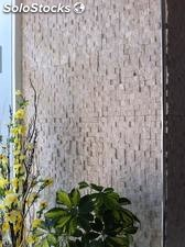 Classic travertine splif face mosaic