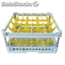 Classical rack, 16 square glass compartments - mod. kit3/4x4 - rack dimensions