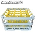 Classical rack, 16 square glass compartments - mod. kit4/4x4 - rack dimensions