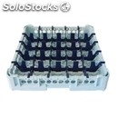 Classical rack, 25 square glass compartments - mod. kit1/5x5 - rack dimensions