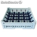 Classical rack, 25 square glass compartments - mod. kit2/5x5 - rack dimensions