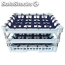 Classical rack, 25 square glass compartments - mod. kit4/5x5 - rack dimensions