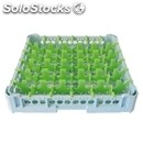 Classical rack, 36 square glass compartments - mod. kit1/6x6 - rack dimensions
