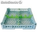 Classical rack, 4 square glass compartments - mod. kit1/2x2 - rack dimensions cm