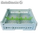 Classical rack, 4 square glass compartments - mod. kit2/2x2 - rack dimensions cm