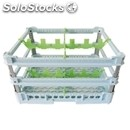 Classical rack, 4 square glass compartments - mod. kit4/2x2 - rack dimensions cm