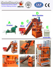 Clay and cement hollow block making machine from china