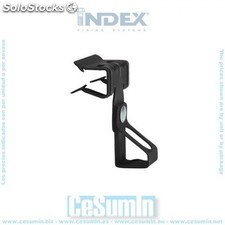 Clip horizontal varilla roscada M8 para espesor 15-20 mm - INDEX - Re