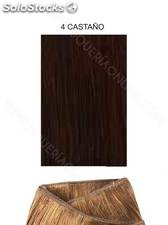 Clippies Extensiones cabello natural tejido 100gr. | Liso - nº 4