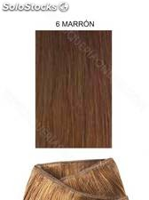 Clippies Extensiones cabello natural tejido 100gr. | Liso - nº 6