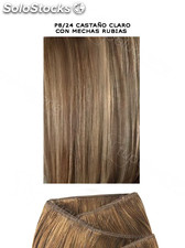Clippies Extensiones Cabello Natural Tejido 100gr. | Liso - Nº P8/24