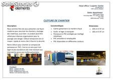 Cloture de chantier