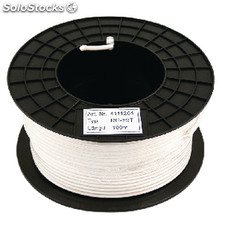 Coax Cable On Reel Rg59 6.2 Mm 100 m White